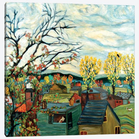 Fall Contemplation Canvas Print #DBH36} by Deborah Eve Alastra Canvas Artwork