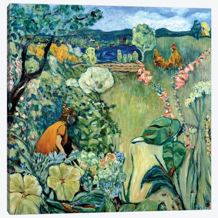 Maisha's Garden Canvas Print #DBH47} by Deborah Eve Alastra Canvas Art Print