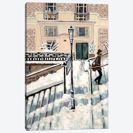 Montmartre Snow Canvas Print #DBH51} by Deborah Eve Alastra Canvas Print