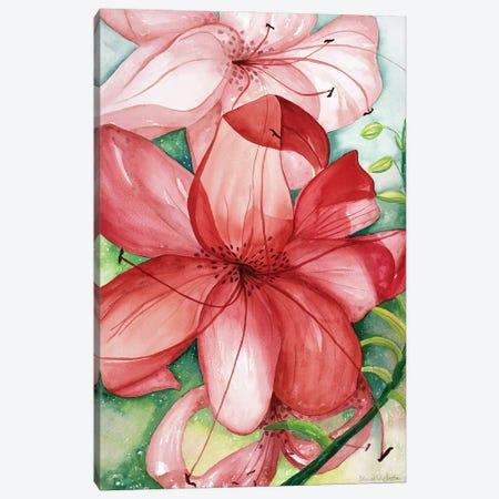Tigerlily Canvas Print #DBH55} by Deborah Eve Alastra Canvas Artwork
