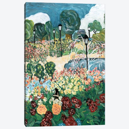 Rose Garden Canvas Print #DBH61} by Deborah Eve Alastra Canvas Wall Art