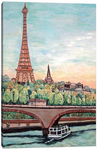Eiffel Tower View Canvas Art Print