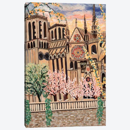 Notre Dame Doves Canvas Print #DBH66} by Deborah Eve Alastra Canvas Print