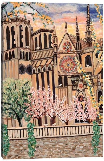 Notre Dame Doves Canvas Art Print