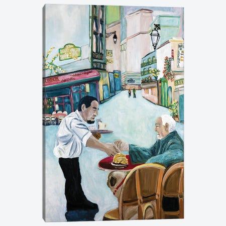 Pug Cafe Canvas Print #DBH67} by Deborah Eve Alastra Canvas Art Print
