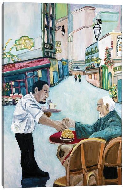 Pug Cafe Canvas Art Print