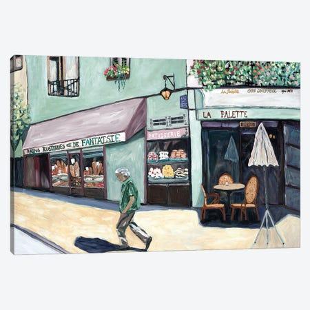 Cafe Corner Canvas Print #DBH68} by Deborah Eve Alastra Canvas Artwork