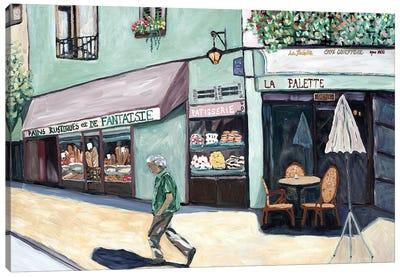 Cafe Corner Canvas Art Print