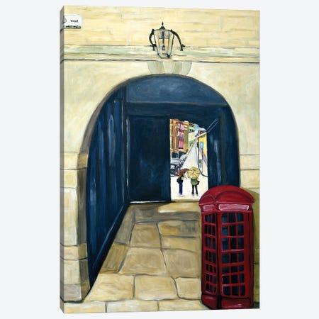 Red Phone Booth Canvas Print #DBH73} by Deborah Eve Alastra Canvas Art Print
