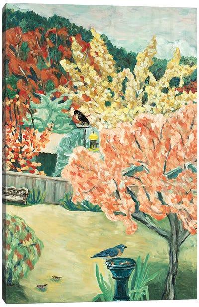 Backyard Fall Canvas Art Print
