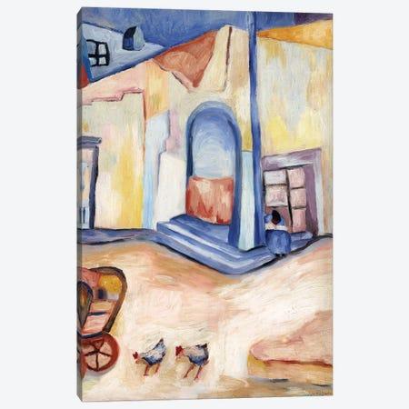 Street Corner Guanajuato Canvas Print #DBH8} by Deborah Eve Alastra Canvas Artwork