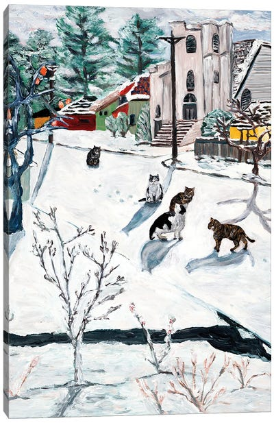 Cats On 67th Canvas Art Print