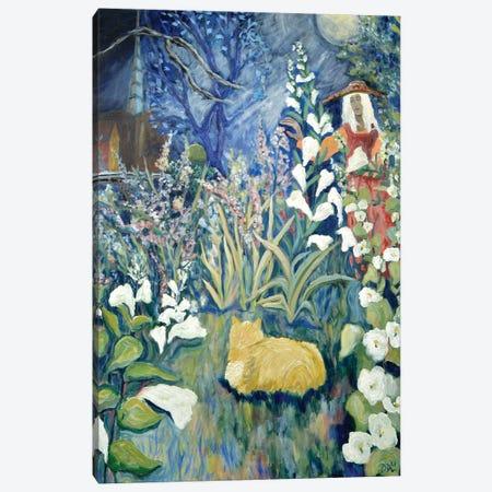 Lunar Hollyhocks Canvas Print #DBH96} by Deborah Eve Alastra Canvas Artwork