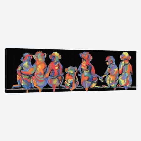 Fun Monkeys Canvas Print #DBK17} by Donna Brooks Art Print