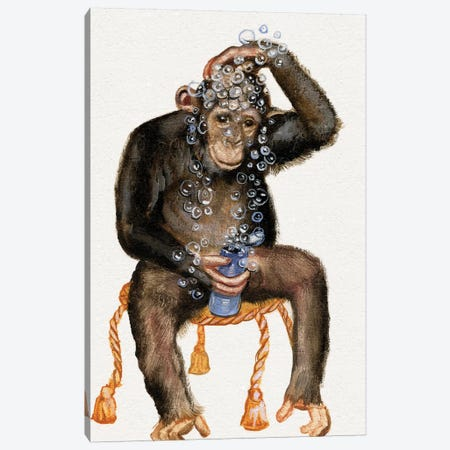 Bath Animals II Canvas Print #DBK7} by Donna Brooks Canvas Artwork