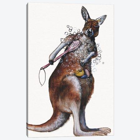 Bath Animals Iv Canvas Print #DBK9} by Donna Brooks Canvas Print