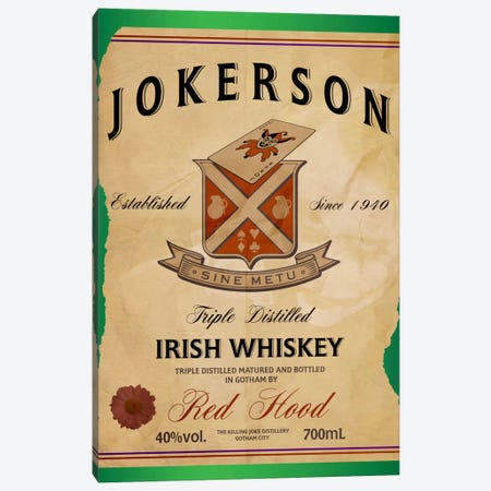 Jokerson Irish Whiskey Canvas Print #DBL3} by 5by5collective Canvas Art