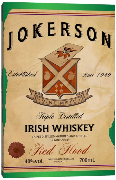 Jokerson Irish Whiskey Canvas Art Print