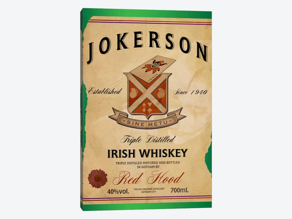 Jokerson Irish Whiskey by 5by5collective 1-piece Canvas Print