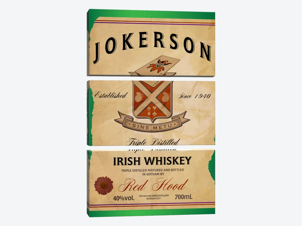 Jokerson Irish Whiskey by 5by5collective 3-piece Art Print