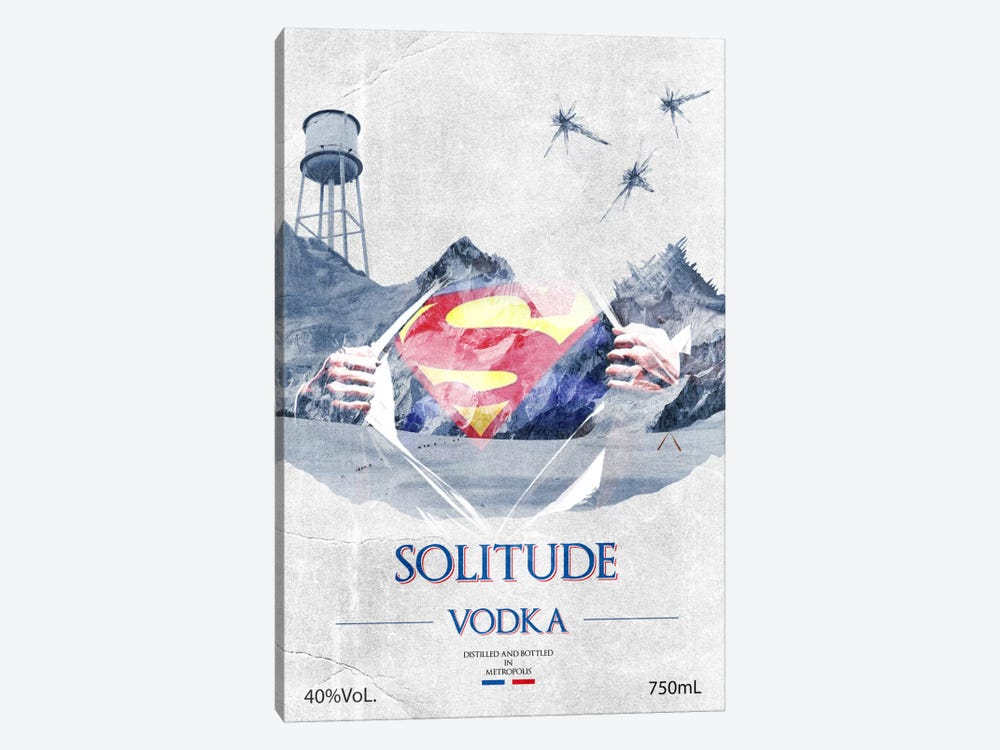 Solitude Vodka by 5by5collective 1-piece Canvas Art