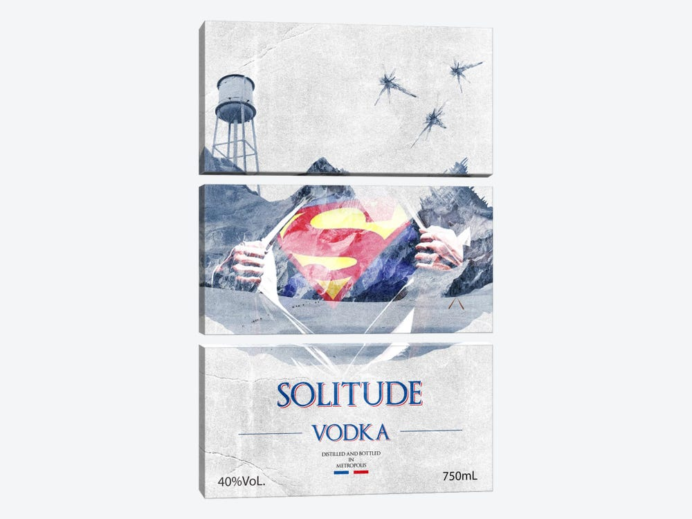 Solitude Vodka by 5by5collective 3-piece Canvas Wall Art