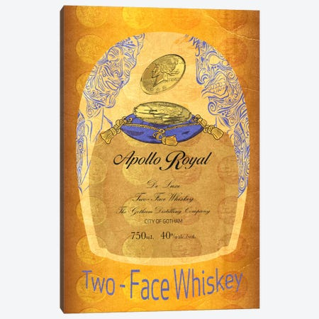 Two - Face Whiskey Canvas Print #DBL7} by 5by5collective Canvas Art Print