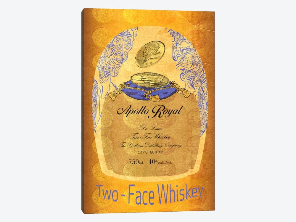 Two - Face Whiskey by 5by5collective 1-piece Art Print