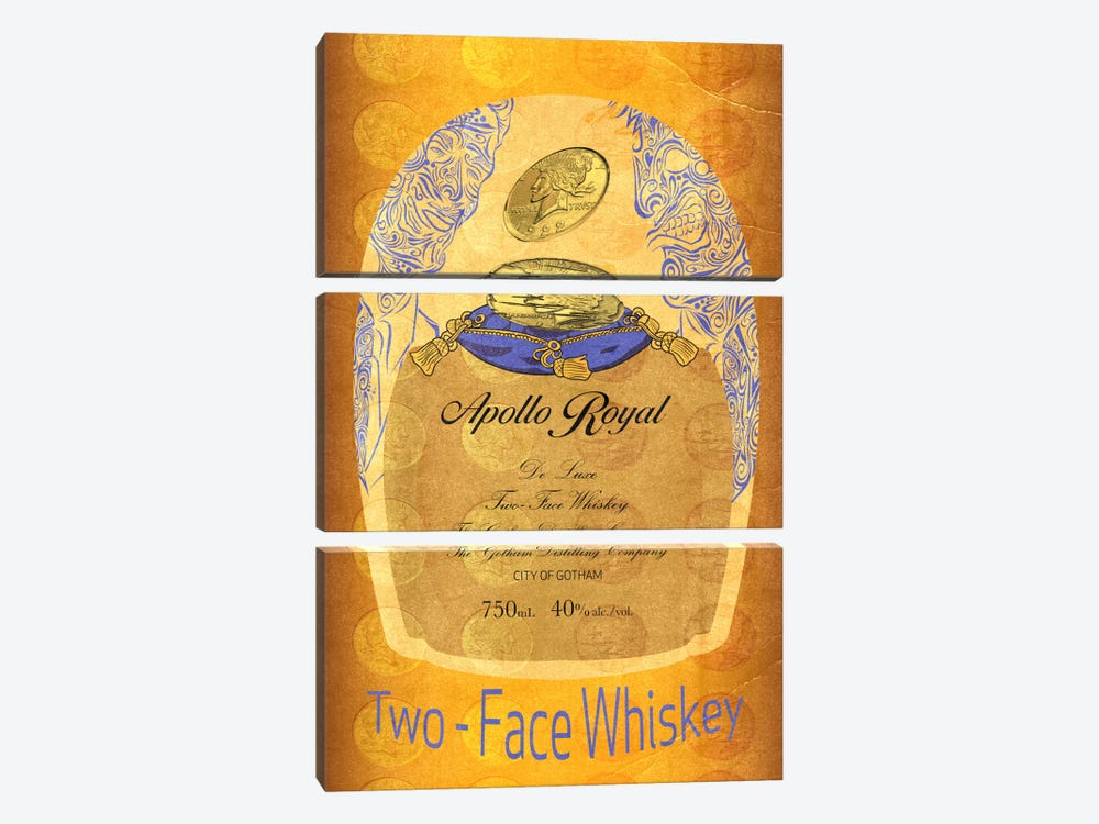 Two - Face Whiskey by 5by5collective 3-piece Art Print