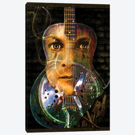 Chris Whitley Canvas Print #DBM16} by Dana Brett Munach Art Print