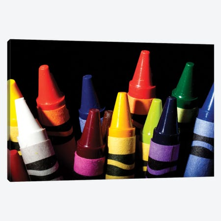 Crayons Canvas Print #DBM19} by Dana Brett Munach Canvas Artwork
