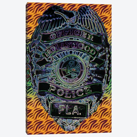 Hollywood Police Canvas Print #DBM41} by Dana Brett Munach Canvas Print