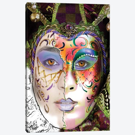 Masquerade Canvas Print #DBM53} by Dana Brett Munach Canvas Artwork