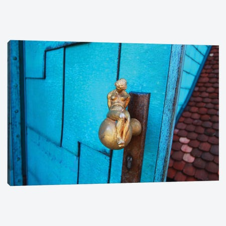 The Blue Door Canvas Print #DBM86} by Dana Brett Munach Canvas Wall Art
