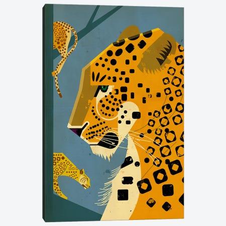 Leopard Canvas Print #DBR13} by Dieter Braun Art Print