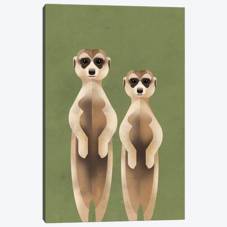 Meerkats Canvas Print #DBR14} by Dieter Braun Canvas Wall Art