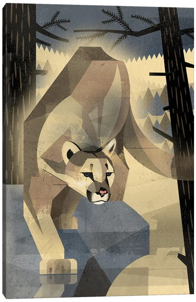 Mountain Lion Canvas Art Print