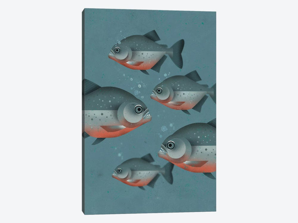 Piranhas 1-piece Canvas Art