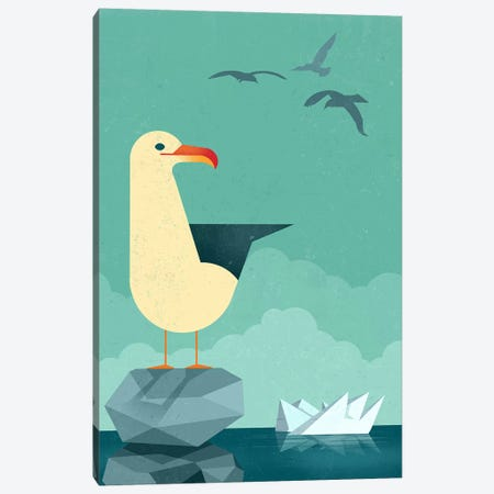 Seagull Canvas Print #DBR18} by Dieter Braun Canvas Print