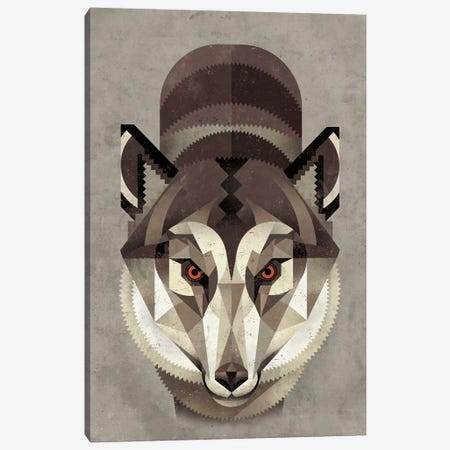 Wolf Canvas Print #DBR23} by Dieter Braun Canvas Artwork