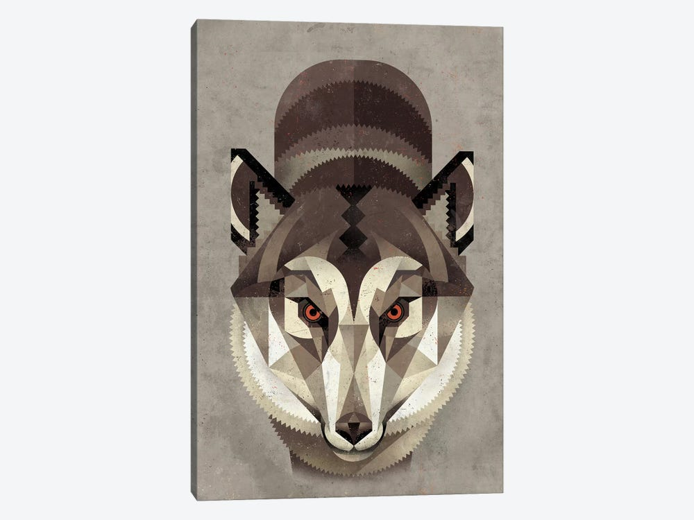 Wolf by Dieter Braun 1-piece Canvas Art