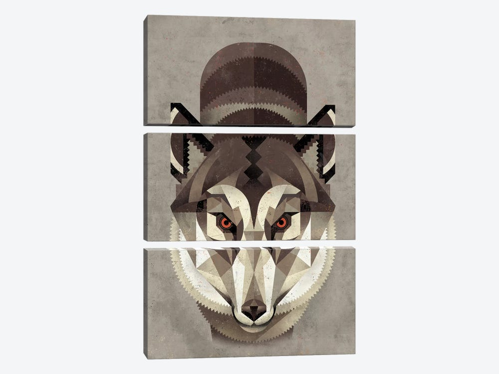 Wolf by Dieter Braun 3-piece Canvas Art