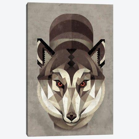 Wolf Canvas Print #DBR23} by Dieter Braun Canvas Artwork