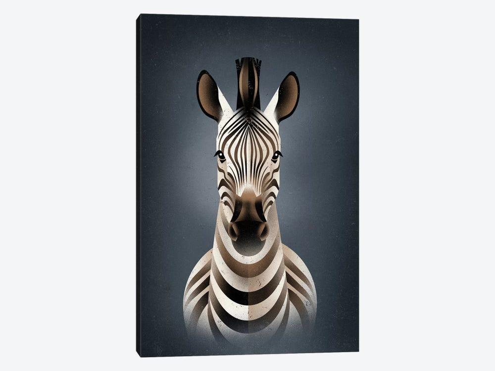 Zebra II by Dieter Braun 1-piece Canvas Art