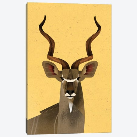 Big Kudu Canvas Print #DBR27} by Dieter Braun Canvas Art Print