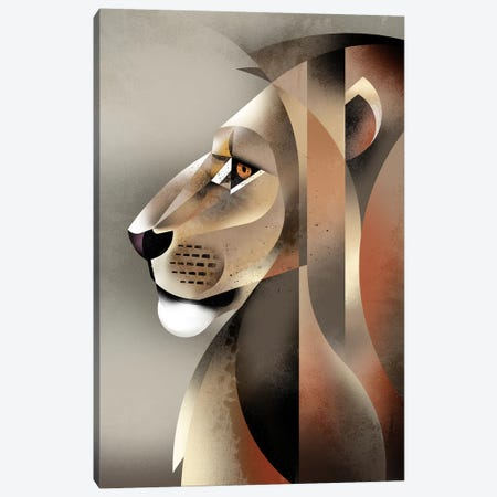 Lion Canvas Print #DBR32} by Dieter Braun Canvas Print