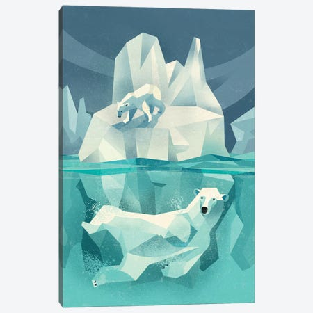 Polar Bear Canvas Print #DBR36} by Dieter Braun Canvas Wall Art