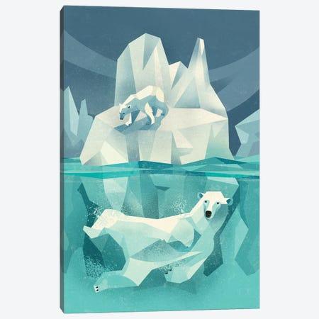 Polar Bear Canvas Print #DBR36} by Dieter Braun Canvas Wall Art