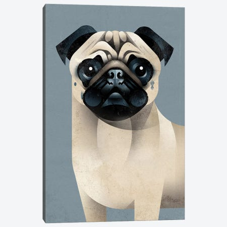 Pug Canvas Print #DBR37} by Dieter Braun Canvas Art