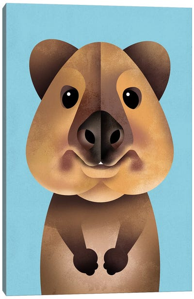 Quokka Canvas Art Print